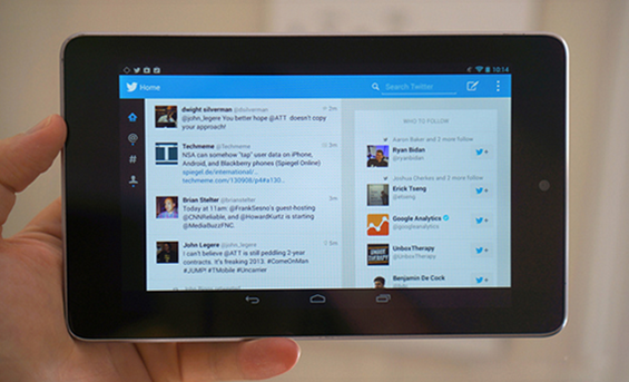 Twitter Tablet UI