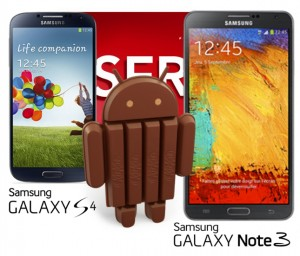 Samsung Galaxy S4 Galaxy Note 3 Android 4.4 KitKat