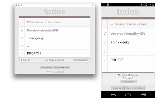 Chrome Apps OS X Android