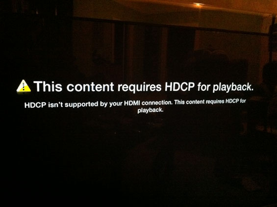 HDCP copy protection