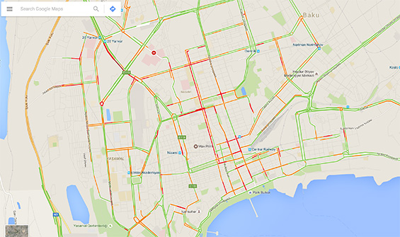 GoogleMaps_traffic_Baku