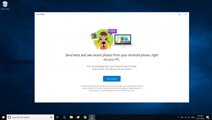 Microsoft Your Phone Windows 10
