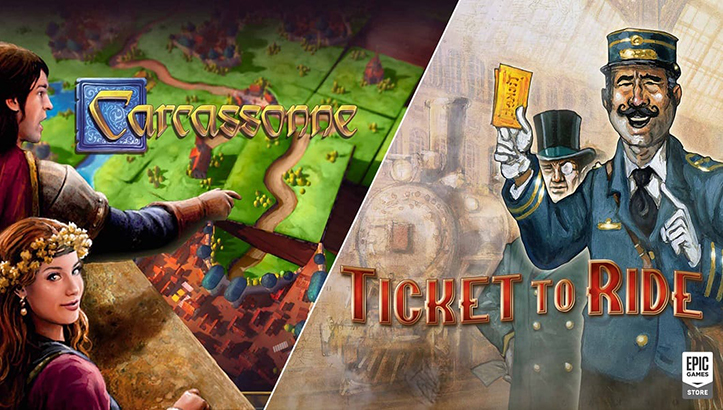 Epic Carcassonne Ticket to Ride
