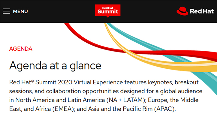 Red Hat Summit 2020 Virtual Experience